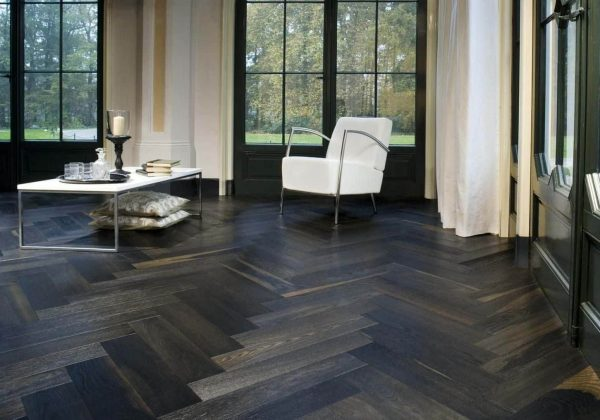 Black Parquet Flooring